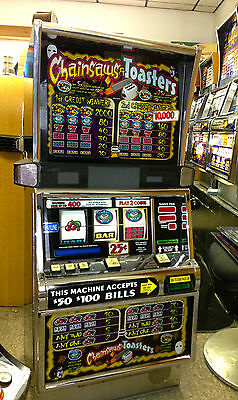 """Igt S2000 Coinless Slot Machine """"chainsaws And Toasters""""   Vegas Slots"""