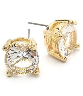 Classic Sparkling Large Cubic Zirconia Stud Fashion Earrings