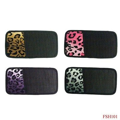Car Truck Leopard Print CD DVD Sun Visor Holder Organizer Pink Tan Gray Purple