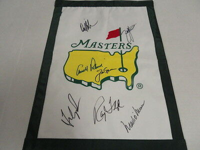Masters Champions Signed Undated Garden Flag Jack Nicklaus Arnold Palmer Proof