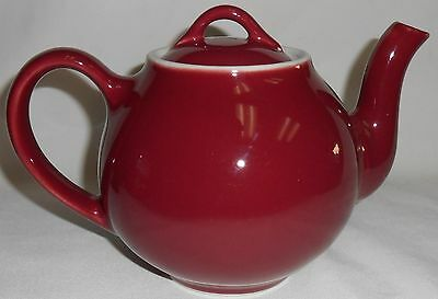 Hall China BURGUNDY COLOR French Style FOUR CUP TEAPOT