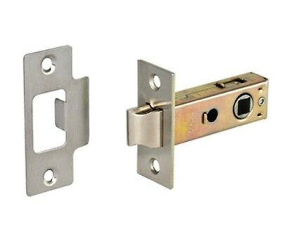"""Heavy Duty Tubular Mortice Latch 2 1/2""""(63mm) in Three finishes.Access"""
