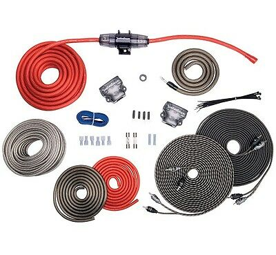 ROCKFORD FOSGATE 4 AWG GAUGE DUAL AMPLIFIER WIRE INSTALL KIT 4G TWO AMP WIRING