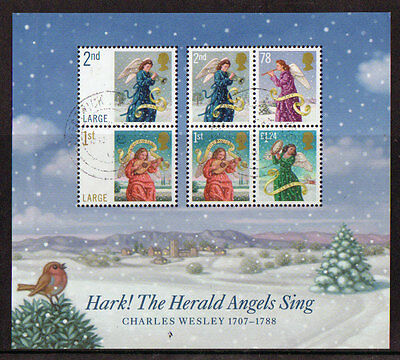 Great Britain 2007 Christmas Miniature Sheet Fine Used