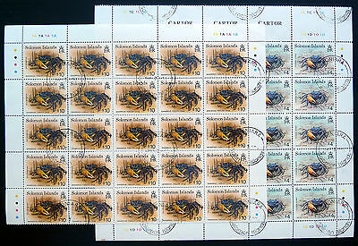 SOLOMON ISLANDS 1993 Crabs $4 & $10 x 25 of Each Cat £212 NEW SALE PRICE BN1080