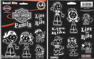 Harley Davidson Motorcycles Family Decal Set Sticker Decal