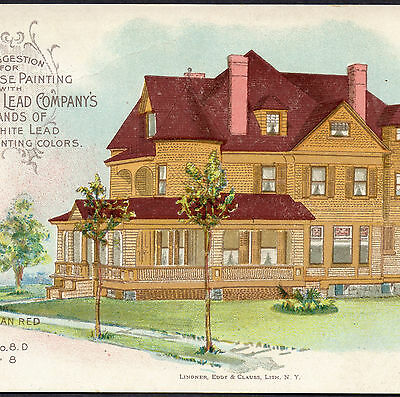 Lovely 1890's Victorian House Paint National Lead Co Victorian Porch Trade Card
