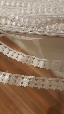 Gorgeous Lace Trim Per Metre 1.8cm Wide For Sewing, Art & Craft WHITE
