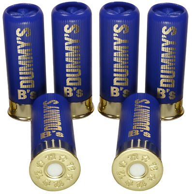 B's Dry Fire Snap Caps® Dummy 12 Gauge Training Rounds 6 x Low Brass Blue 12 Ga