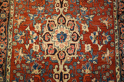 c1920s ANTIQUE HIGHLY DETAILED PERSIAN BIJAR RUG 2.5x3 DON'T MISS OUT BEAUTY!!!