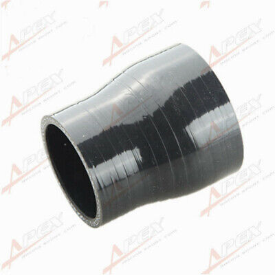 "3Ply 2.5"" To 1.5'' Inch Straight Reducer 76.2mm Silicon Hose Coupler Pipe Black"