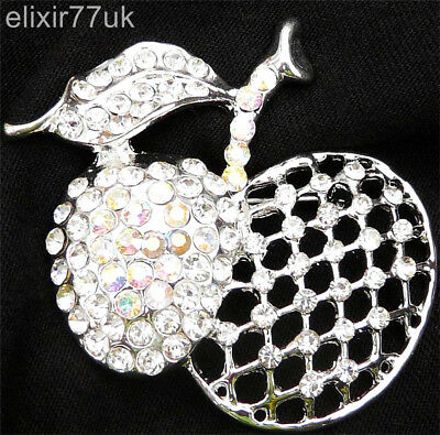 New Large Pin Back Silver Apple Brooch Bouquet Vintage Antique Lot Jewellery Job