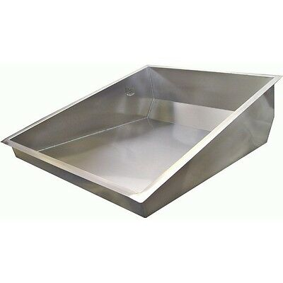 """ACE 24""""Wx30""""L Stainless Steal Donut Glazing Sugar Pan for Donut Table DN-PAN"""