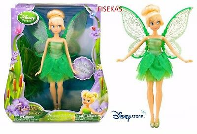 Disney Store 10 in The Great Fairy Rescue Fluttering Wings Tinkerbell Doll NEW