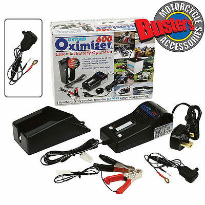 Oxford Motorcycle Oximiser Battery Charger 12v Motorbike OF600 CE & TUV Approval