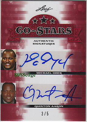 "2013 Pop Century Auto:michael Oher/quinton Aaron #3/5 Autograph ""the Blind Side"""