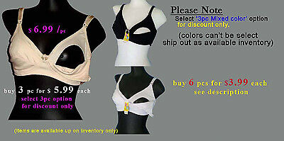 Maternity Nursing Bras Soft Cotton Easy feed Comfort wear TRUE SIZE 36B-46DD
