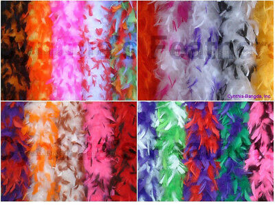 65 grams Chandelle Feather Boa with Tips, 10+ unique patterns to pick from