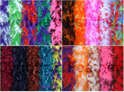 "65g 72""long Chandelle Feather Multiple Color Boa 25+ Patterns to pick up from"