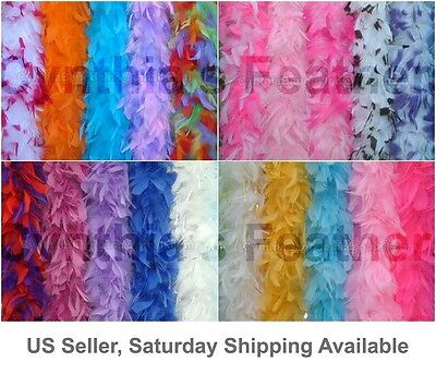 "45g 52""long Chandelle Feather Boa, 20+ Multiple Colors & Patterns to pick from"