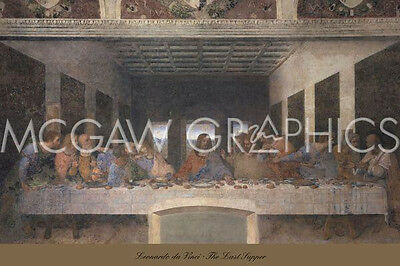 DA VINCI LEONARDO - THE LAST SUPPER, 1498 (post-restoration)(1519) ART PRINT