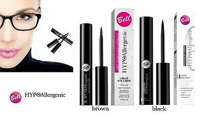 Bell Hypoallergenic Liquid Eye Liner Black Brown Paraben Free