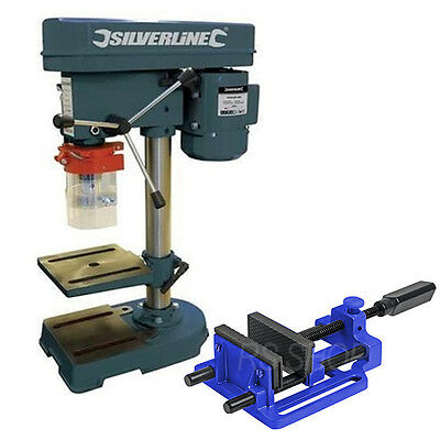 Rotary Pillar Drill Drilling Press Bench Machine Table Quick Release Drill Vice
