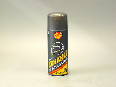 Shell Advance Motorcycle Helmet & Visor Cleaner Spray Aerosol Can 400ml