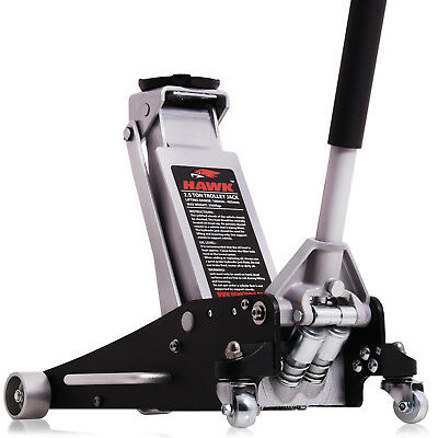 3 Ton 98Mm Super Low Entry Car Hydraulic Twin Piston Garage Trolley Jack Stand