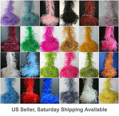 "2 ply, 72""long A+ Quality Ostrich Feather Boa, 30+  colors to pick from, NEW!"