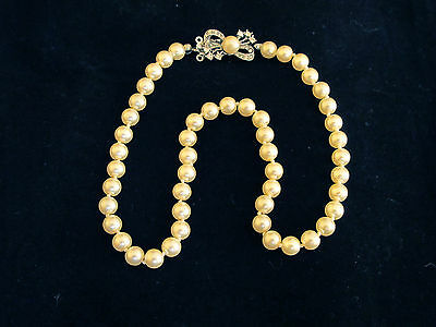 Chic Vintage Style Pearl Necklace Diamante Crystal Jewellry Bridesmaid Bride 15""