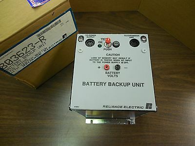 New Reliance Electric 803623-R Battery Backup Unit Dcs Drive W/ Tester Button
