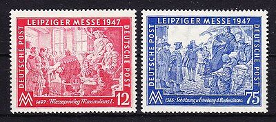 Germany 1947 - Leipzig Fair Issue Sc# 580 - 581 Mint Never Hinged