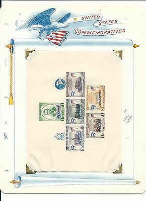 Honduras, John F. Kennedy Collection on White Ace Pages, #C325-C330a Sheet