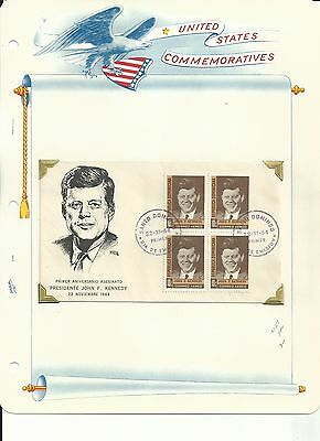 Dominican R, John F. Kennedy Collection on White Ace Pages, 1964 Covers & Stamps