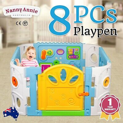 Baby Playpen - Interactive Baby Room Play Pen WITH Safety Gate