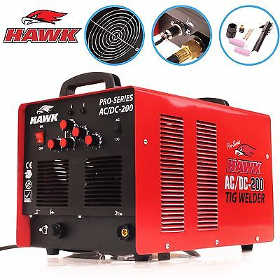 Hawk 200A Ac/dc 200 Amp Garage Workshop Aluminium Steel Welder Welding Machine