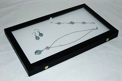 Clear Top Jewelry Display Case With White Pad