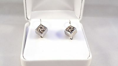 925 Sterling Silver with gold STAR OF DAVID EARRINGS set from ISRAEL