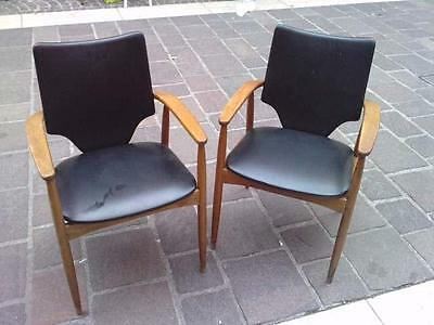 2 fauteuils design 50/60 danish ? vodder ?  skai armchair denmark ? chair