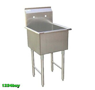 "ACE Economy 1 Compartment S/S Utility Prep. Sink 18"" x 18"" x 13""D ETL SEE18181P"
