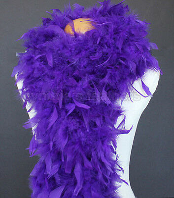 "80g Regal Purple Chandelle Feather Boa, 72"" long A+++ cynthia's feathers, NEW!"