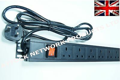 "8 way PDU UK ,1.5U Switched VERTICALLY  mounted  in 19"" for  Data Racks cabinets"