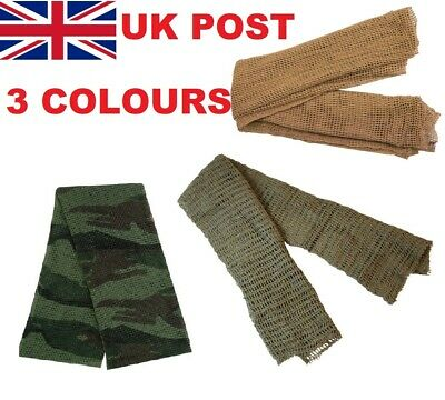 MILITARY SCRIM NET SCARF SAS SF TA CADET SCOUTS GREEN OG or