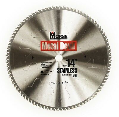 MK Morse CSM1490SSC  Metal Devil 14 in. 90T Stainless Steel Cutting Blade