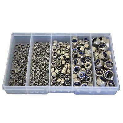 Qty 225 Nyloc Nut Kit M4 M5 M6 M8 M10 Stainless Steel 304 Grade SS #185