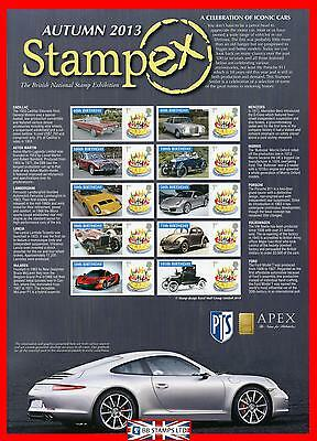 2013 Celebration of Iconic Cars Stampex ( Autumn ) Smiler Sheet