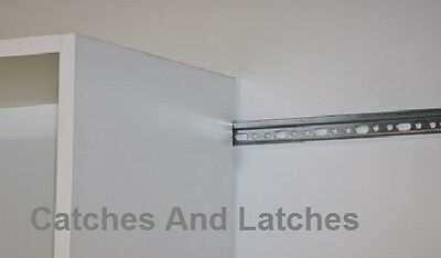 Hanging Rail 1m Length X 1 75mm Strong Kitchen Cabinet Wall Mounting Bracket 9 45 Picclick Uk
