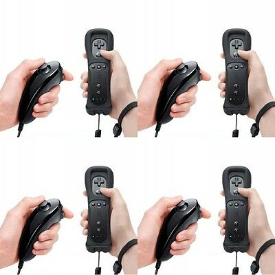 4pcs Remote and Nunchuck Controller Set for Nintendo Wii Game + Case Skin