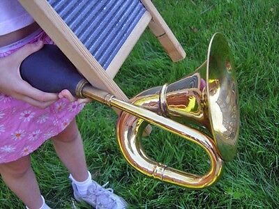 LARGE BRASS BULB HORN w/Free Mouthpiece (limited time offer!)